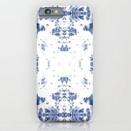 Shibori Tie Dye 5 Indigo Blue iPhone Case