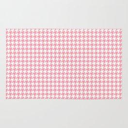 Pink Houndstooth Pattern Rug