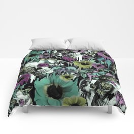 Mrs. Sandman, melting rose skull pattern Comforters