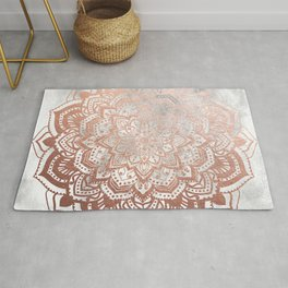 ROSE GOLD MANDALA Rug