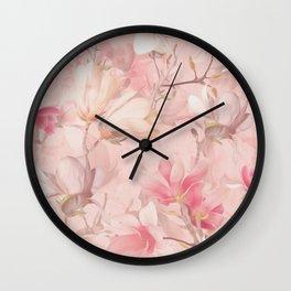 PINK MAGNOLIAS Wall Clock