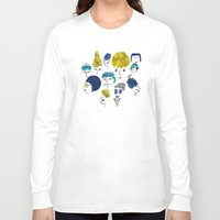 faces Long Sleeve T-shirts featuring Faces by Sahily Tallet Yip