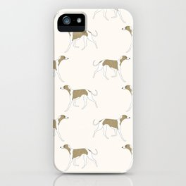 The Walking Whippet iPhone Case