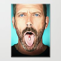 house md Canvas Prints featuring House MD by Veruca Crews