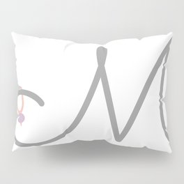 M Initial with Stitch Marker Pillow Sham