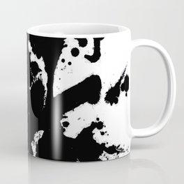 Black and white splat - Abstract, black paint splatter painting Coffee Mug