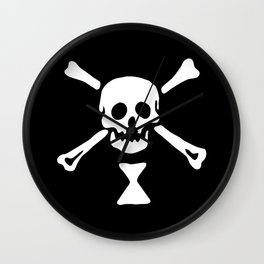 Emanuel Wynne Pirate Flag Jolly Roger Wall Clock