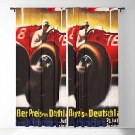 1937 Grand Prix Motor Racing Nurburgring Germany Vintage Advertising Poster Blackout Curtain