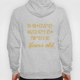 18 Years Old Algebra Equation Funny 18th Birthday Math Hoody