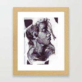 Girl in gouache Framed Art Print