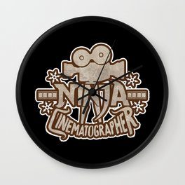 Ninja Cinematographer Filmmaking Apparel and Gifts Wall Clock