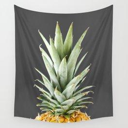 Dark pineapple Wall Tapestry