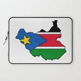 Sudan Map with Sudanese Flag Laptop Sleeve