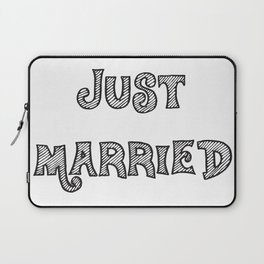 Just Married Laptop Sleeve