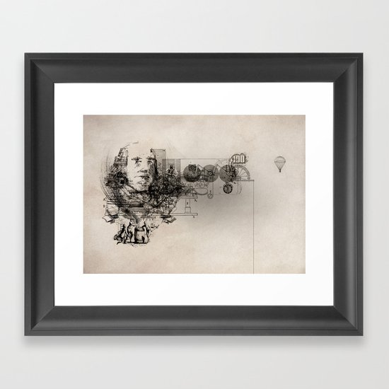 The Fiscal Cliff Framed Art Print