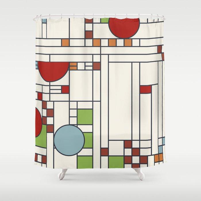 Frank lloyd wright pattern S02 Shower Curtain by etmeusmoi | Society6