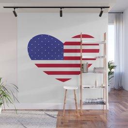 Big American Heart Wall Mural