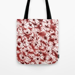 Red Abstract 386 Tote Bag