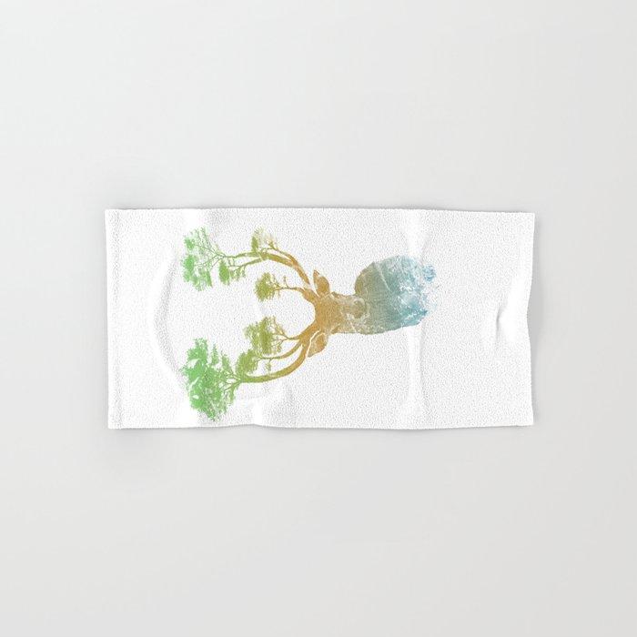 Summer Stag Hand & Bath Towel