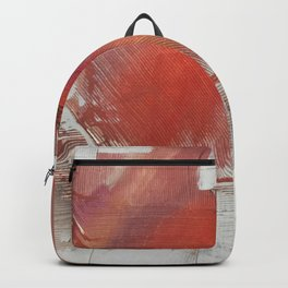 California Sun [2]: a minimal, abstract piece in reds and gold by Alyssa Hamilton Art Backpack