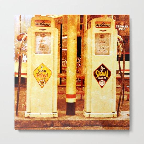 Vintage Gas Pumps :) Metal Print
