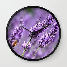 Bee Lavender Wall Clock