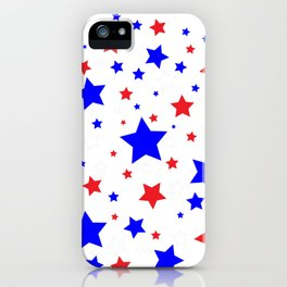 Red White and Blue Stars iPhone Case