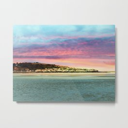Sunset on the Village Metal Print