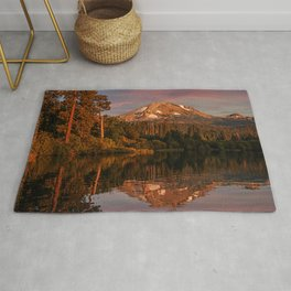 Picture USA Lake Manzanita Lassen Volcanic National Park Autumn Nature mountain park forest Reflection Mountains Parks Forests reflected Rug