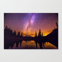 milky way Canvas Prints featuring Milky Way by EclipseLio