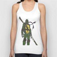 ninja turtles Tank Tops featuring Ninja Turtles Donatello by minusblindfold
