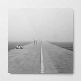 Misty Road Metal Print