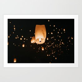 Lantern Light Festival Art Print