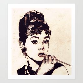Chapped Hepburn Art Print