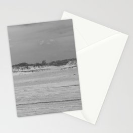 Dunes of Assateague Island (black and white) Stationery Cards