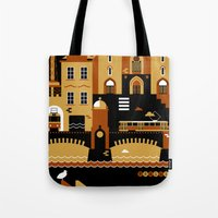 prague Tote Bags featuring Prague by koivo