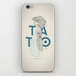 TATTOO CHICK iPhone Skin