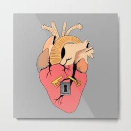 Locked heart Metal Print