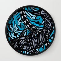 shark Wall Clocks featuring Shark by Lonica Photography & Poly Designs
