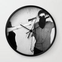 splatter Wall Clocks featuring Splatter by Brandon Juarez