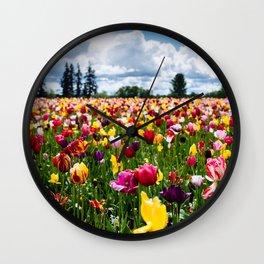 Tulips // Field Wall Clock