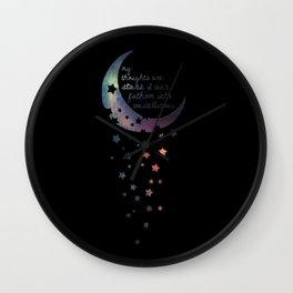 Stars I can't fathom into constellations Wall Clock