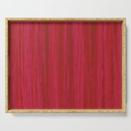 Strawberry Colored Vertical Stripes Serving Tray