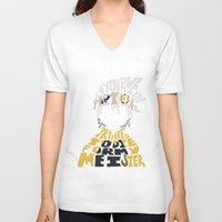 soul eater V-neck T-shirts featuring soul eater evans by Rebecca McGoran