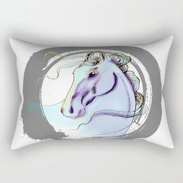 451 Periwinkle Horse Rectangular Pillow