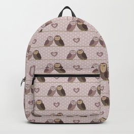 Owls in love (pink) Backpack