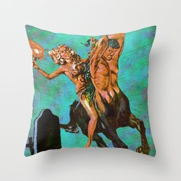 Devil's Night Out Throw Pillow