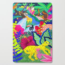 Jungle Party Animals Cutting Board