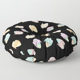 Pastel Melted Ice Cream (Black) Floor Pillow