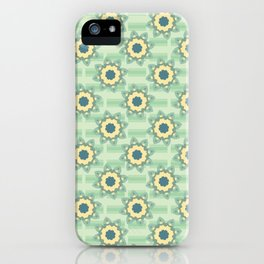 Spring Flower Motif Daisy Style Seamless iPhone Case